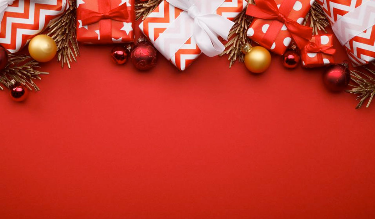 banner natale rosso